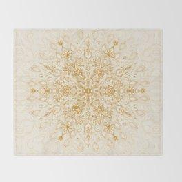 Sepia Snowflake Doodle Throw Blanket