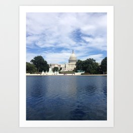 US Capitol and reflecting pool Art Print