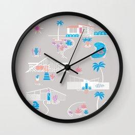 Desert Mid-Century Modern Wall Clock