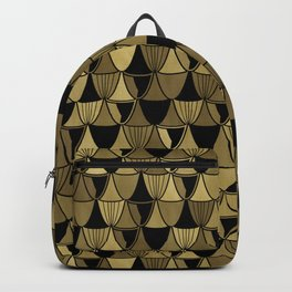 Gold Art Deco Goblets Backpack