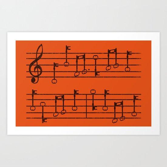 KeyNotes Art Print