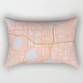 Orlando map, Florida Rectangular Pillow