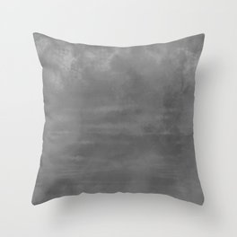 Burst of Color Gray Abstract Sponge Art Blend Texture Throw Pillow