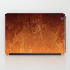Orange Fire Watercolor Abstract iPad Case