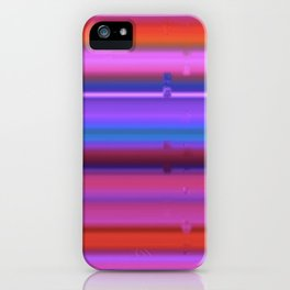 Glitch Strips iPhone Case