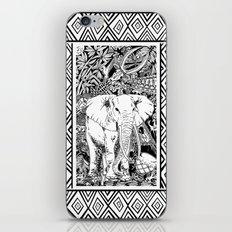 White Elephant Indian Ink Tribal Art iPhone & iPod Skin