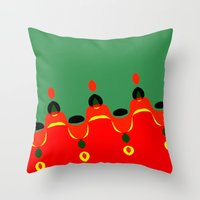 xmas Throw Pillows featuring xmas by Milenix Loerdi