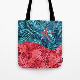 Summer Beach Tropical Pattern Tote Bag
