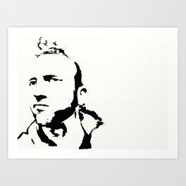 Tom Jones in stencil Art Print