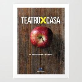 Teatroxcasa (mela) Art Print