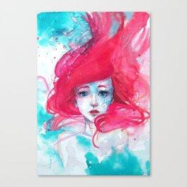 Princess Ariel - Little Mermaid has no tears Canvas Print