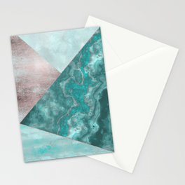Gemstone And Geode Triangles Stationery Cards