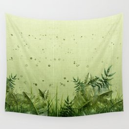 """""""Forest leaves and plants"""" Wall Tapestry"""