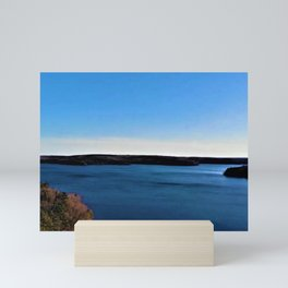 Aerial View of the Scituate Reservoir, Scituate, Rhode Island Mini Art Print
