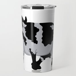 Cow chewing flower Travel Mug