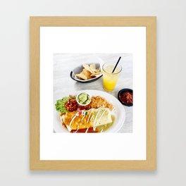 Lunch on the Santa Monica Pier Framed Art Print