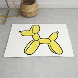 Yellow Balloon Dog Rug