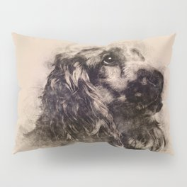 English Cocker Spaniel Sketch Pillow Sham