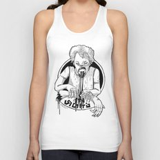 At the testing facility. Part 8 Unisex Tank Top