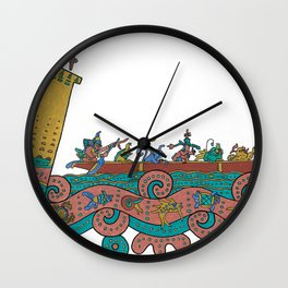 Puerto Morelos Light House (Antique Mexican Style) Wall Clock