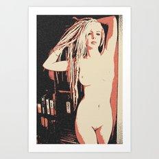 Reggae Dreadlock Girl Nude Art Print