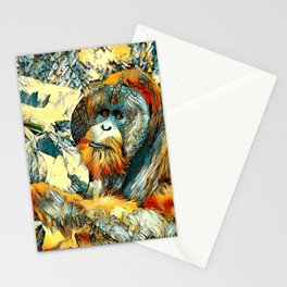 AnimalArt_OrangUtan_20170601_by_JAMColorsSpecial Stationery Cards