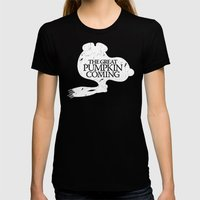 Game of Peanuts Womens Fitted Tee LARGE Black