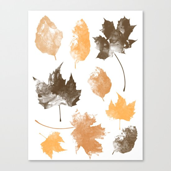 autumn, leaves, Canvas Print