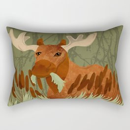 Moose Munch Rectangular Pillow