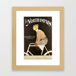 The Northampton Bicycle co. by Edward Penfield Framed Art Print