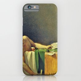 Jacques-Louis David - The Death of Marat - Digital Remastered Edition iPhone Case