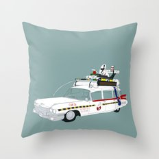 Ecto-1A Throw Pillow