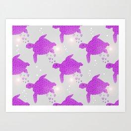 Turtle Hearts Art Print