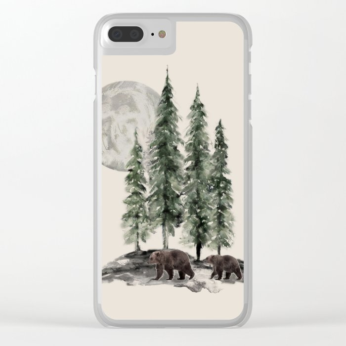Full Moon Rising Clear iPhone Case