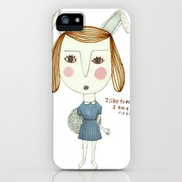 The Great Rabbit Pretender. iPhone Case