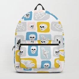 Human Skull and Skeleton Hand Pattern Backpack