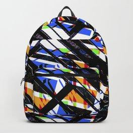 Multicolor Geometric Abstract Pattern Backpack