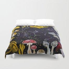 Mushrooms and Stars Duvet Cover