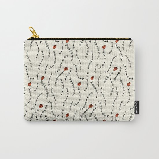 Red Roses Pattern Carry-All Pouch
