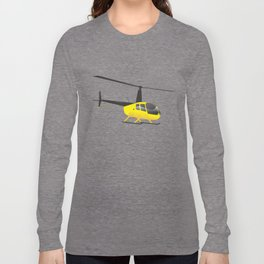 Light Black and Yellow Helicopter Long Sleeve T-shirt