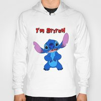 stitch Hoodies featuring stitch by customgift