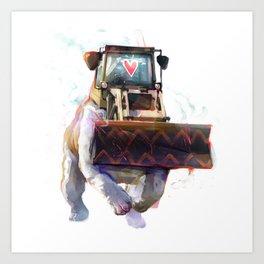 Dozer Bulldozer Art Print