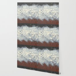 Cool Pollock Rothko Inspired Black White Red Abstract - Modern Art Wallpaper