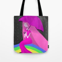 princess bubblegum Tote Bags featuring Princess Bubblegum by theconsy