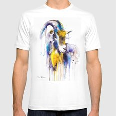 Goat  MEDIUM Mens Fitted Tee White