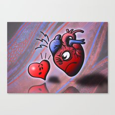 Heart vs Heart Canvas Print