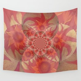 Radiantly Red- Revamped Wall Tapestry