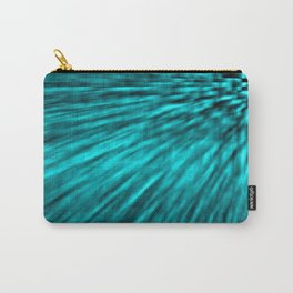 Teal Pixel Wind Carry-All Pouch