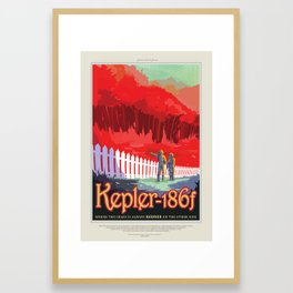 Kepler-186f Framed Art Print
