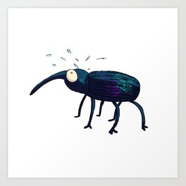 Distraught Beetle 1 Art Print